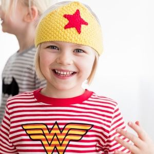 Hanna Andersson Wonder Woman Crochet Crown NEW
